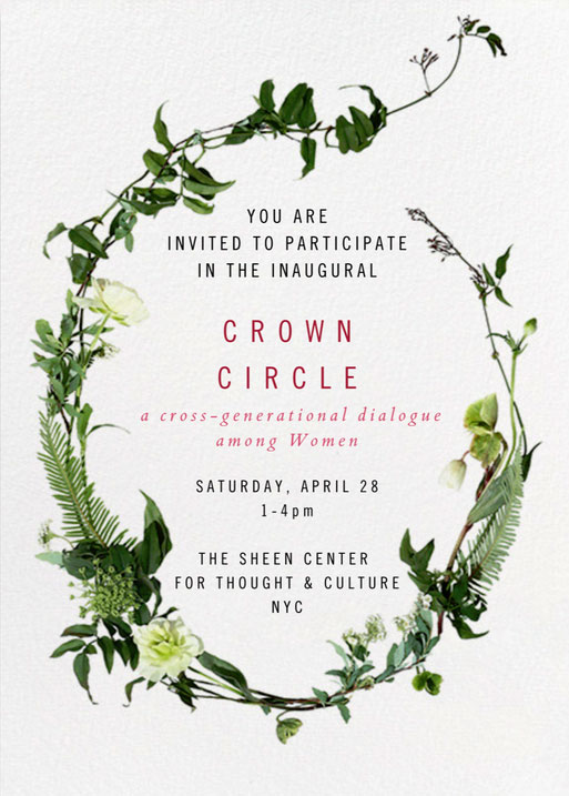 Crown Circle Invitation